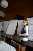 prezentace výsledků práce ve skupinách (foto: Petr Birklen)