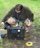 příprava ukázky měření stavu stromu (foto: Jana Laciná)