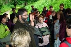 ukázka výsledků akustického měření stromu (foto: Vlastimil Kostkan)